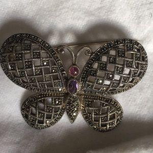 Judith Jacks Butterfly Sterling Silver Brooch